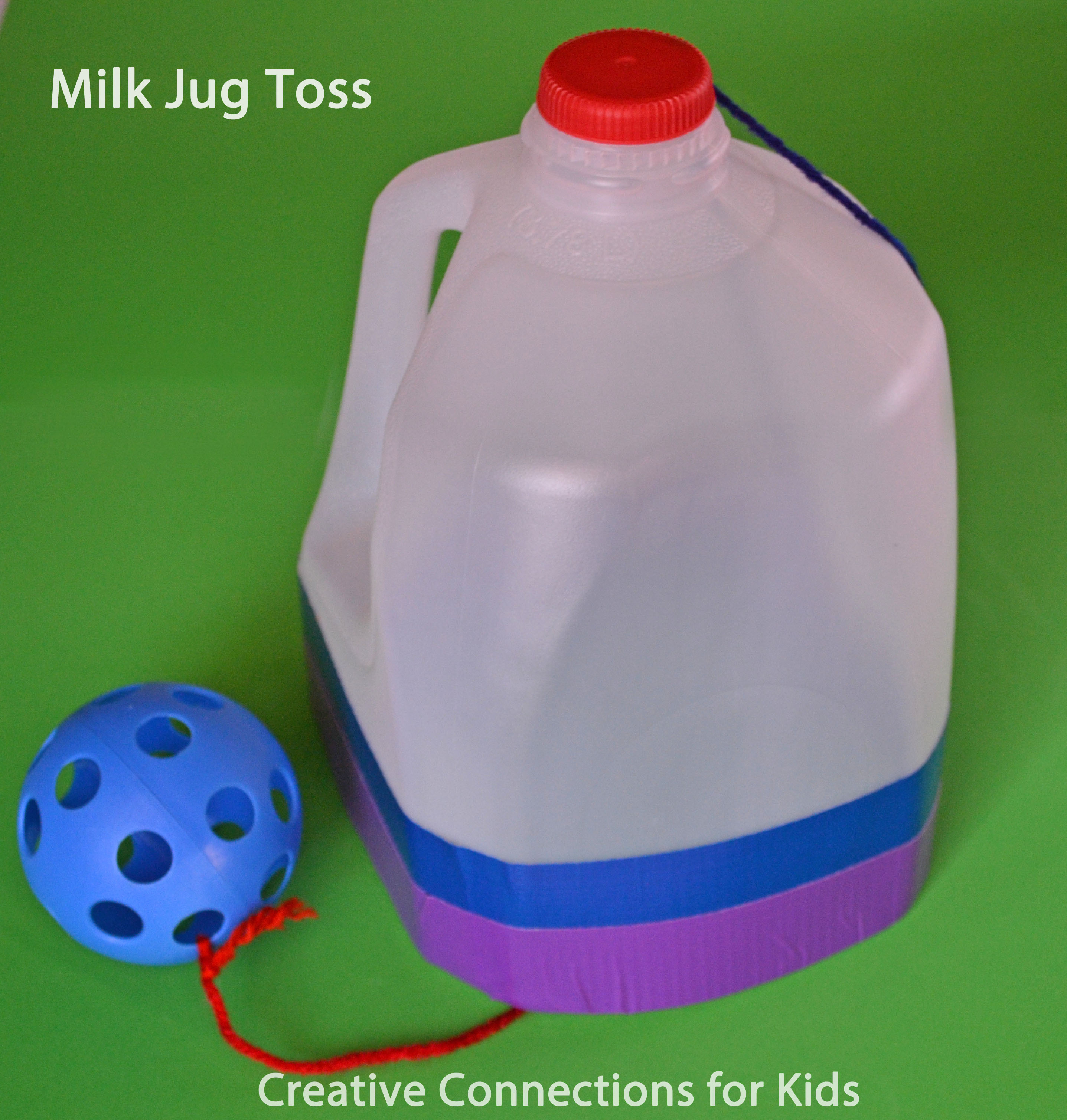 Milk jug toss for Things to make with plastic bottles for kids