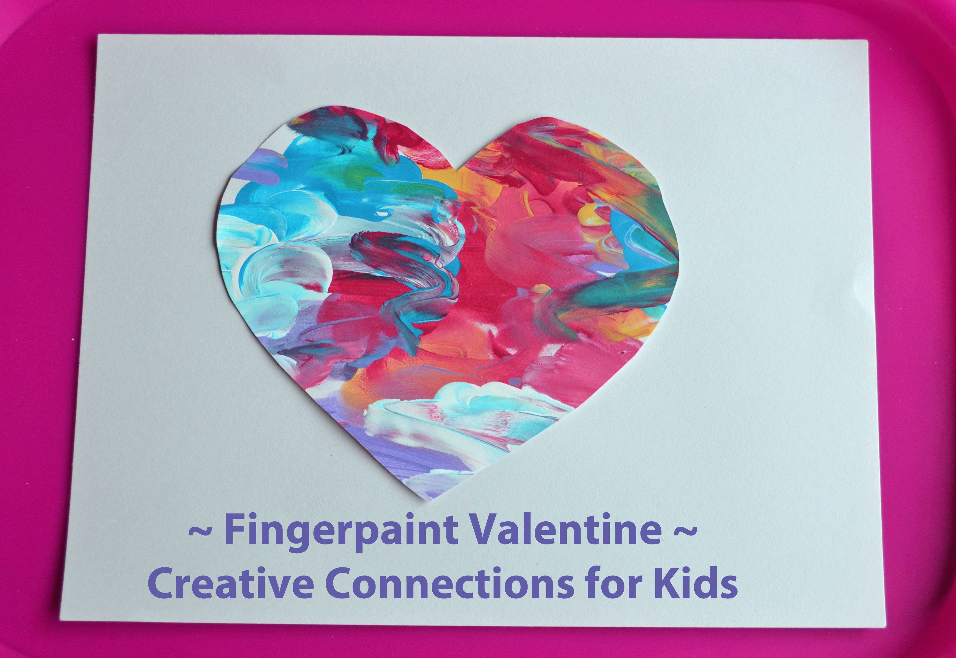 valentine finger paint and blog hop