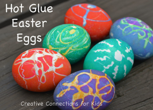 hot glue easter eggs