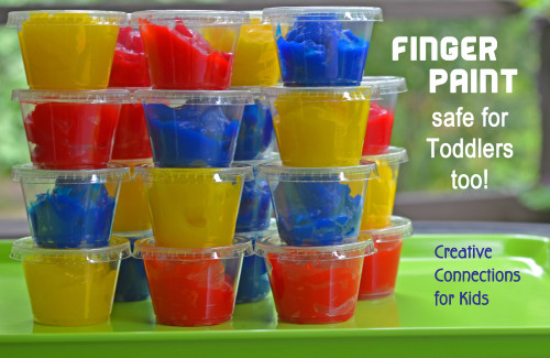 Edible Finger Paint Recipe