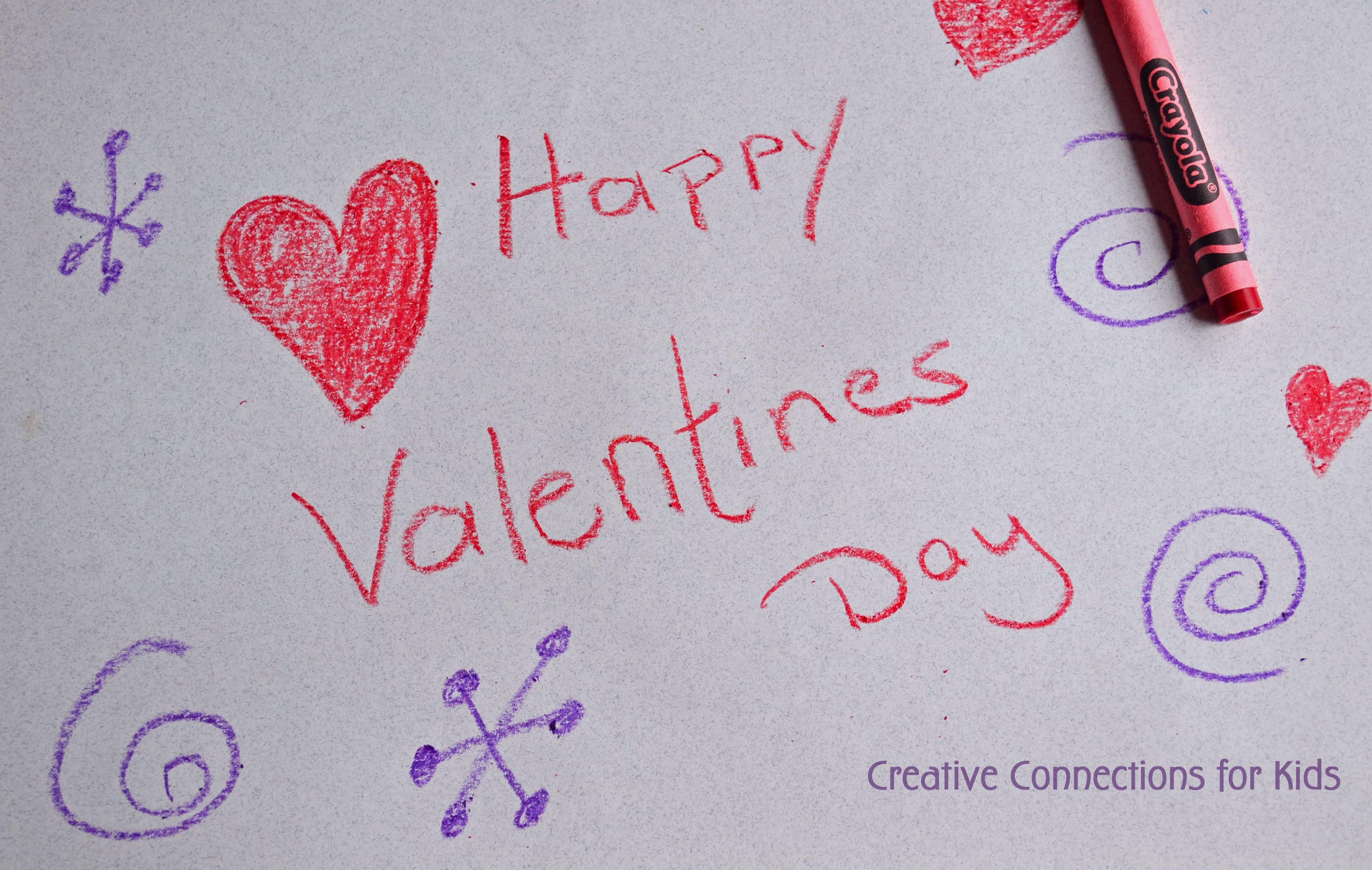 Crayon Watercolor Valentine Cards