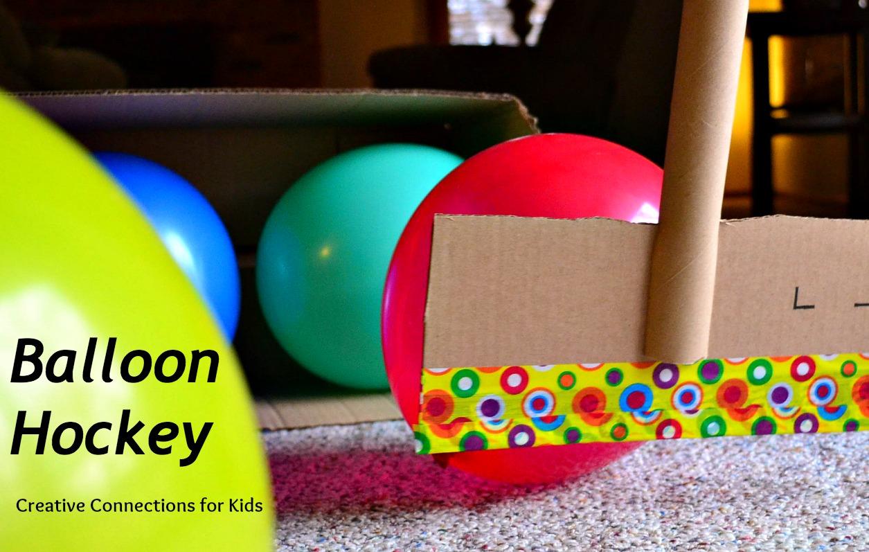 Balloon hockey for Fun balloon games for kids