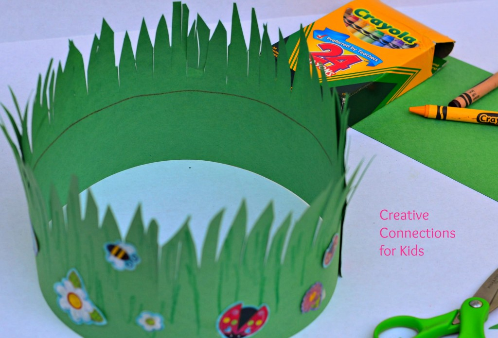go green craft ideas a crown of grass 4573