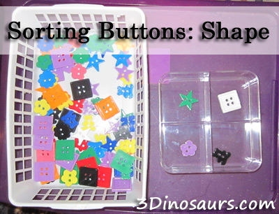 Away We Go - Sorting Buttons- Shapes