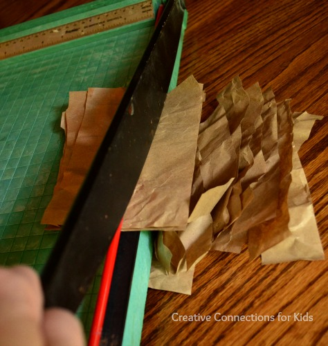 Fall Crafts using recycled packing paper