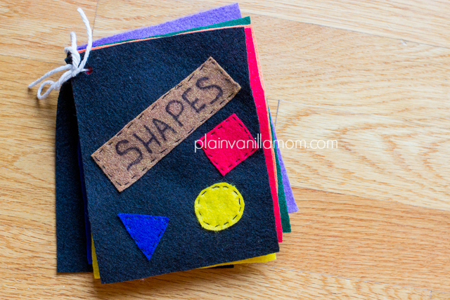 felt book of shapes
