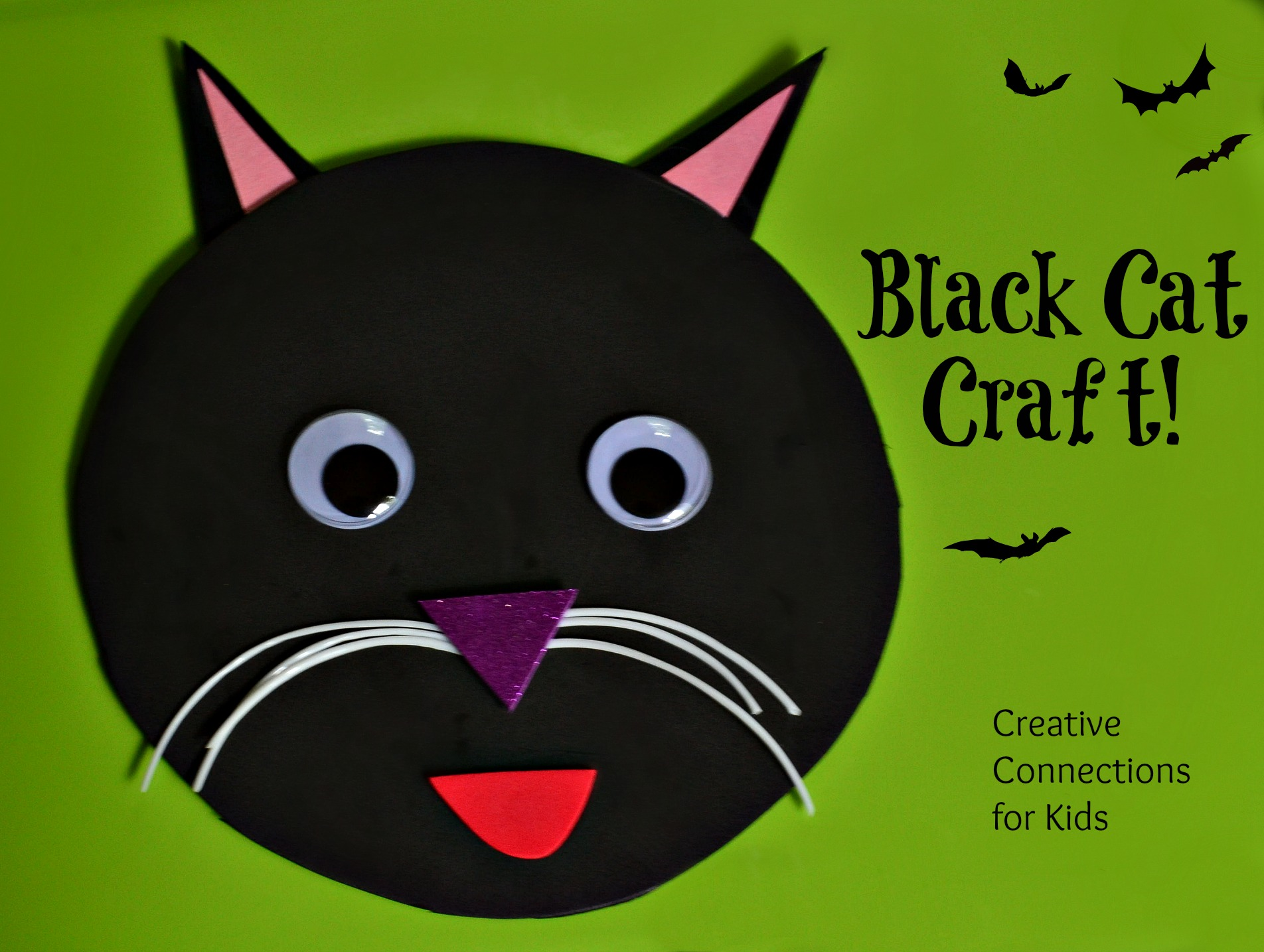 Black cat craft for Cat crafts for toddlers