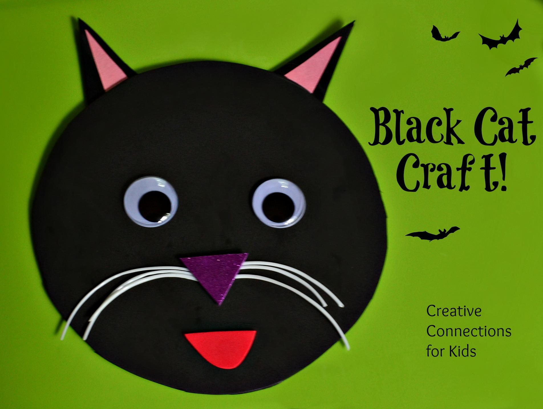 Black cat craft for Cat art and craft