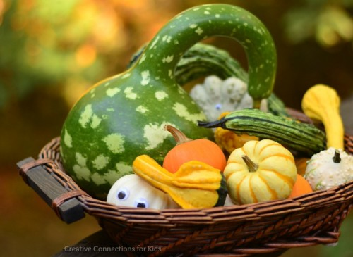 Gourds and googly eyes