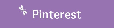 Blog Social Media buttons in purple - pinterest