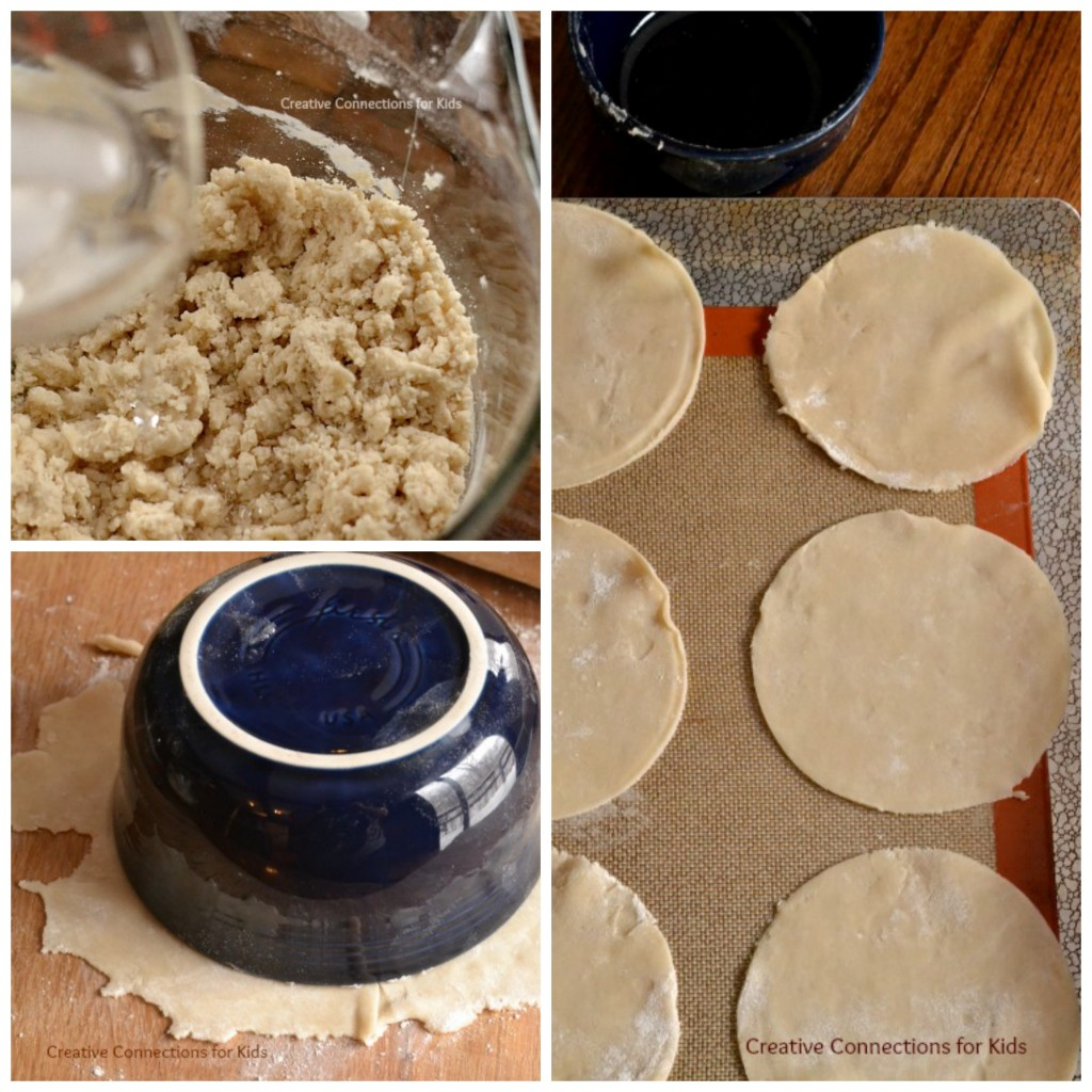 Apple Emapanada - making the pastry