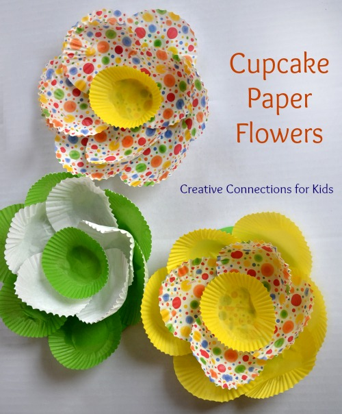 Cupcake Paper Flower for Spring!