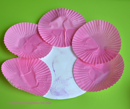 Cupcake Paper Flowers - glue them around the edges