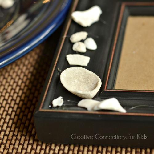 Seashell Frame - glue shells to frame