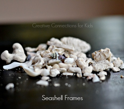Use a seashell collection to create a frame