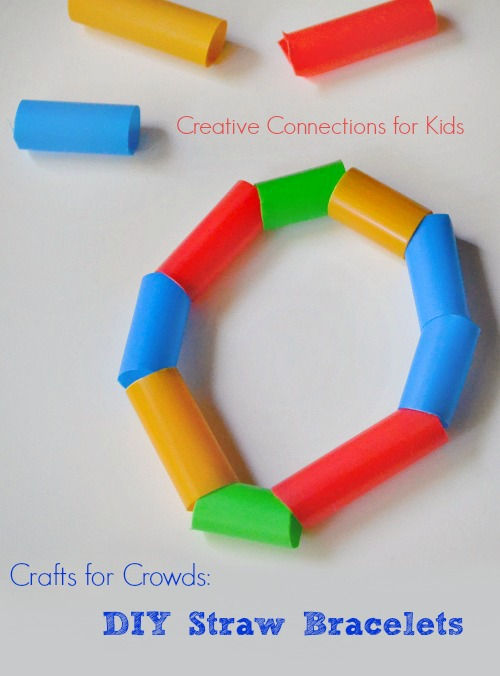 DIY Straw Bracelet - an inexpensive and easy Craft for Crowds