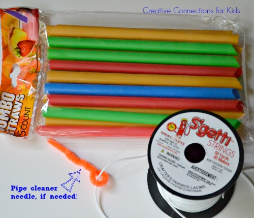 DIY Straw Bracelets - supplies