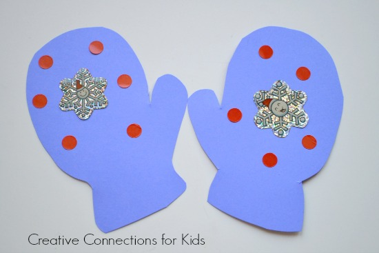 Mittens - easy toddler craft