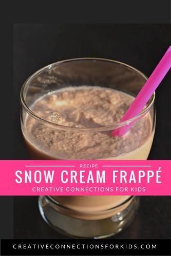 Snow Cream Frappe'
