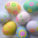 Decorating Easter eggs with stickers, so simple