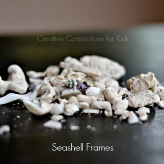 Use-a-seashell-collection-to-create-a-frame