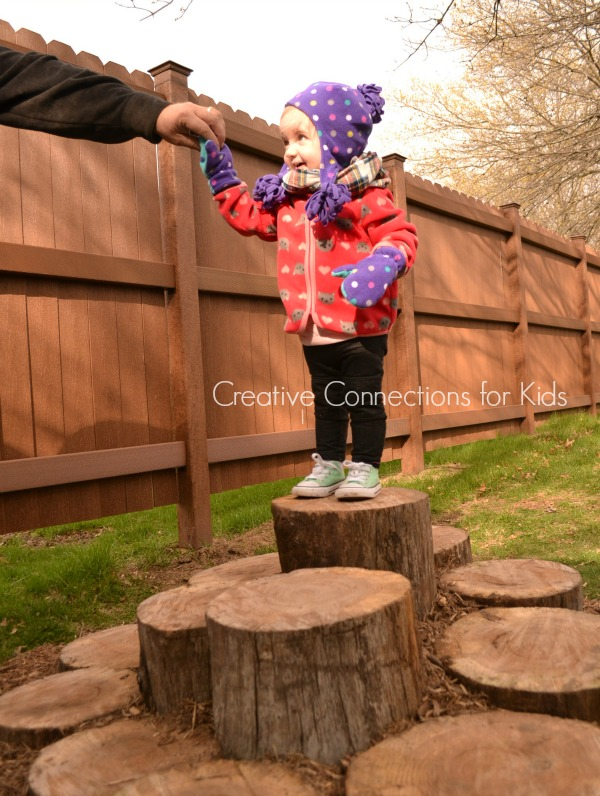 A log walk on Creative Connections for Kids