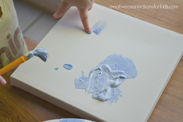Handprints for Mother's Day - fingerpaint