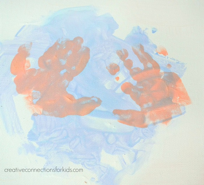Handprints on Canvas - Art by Kids