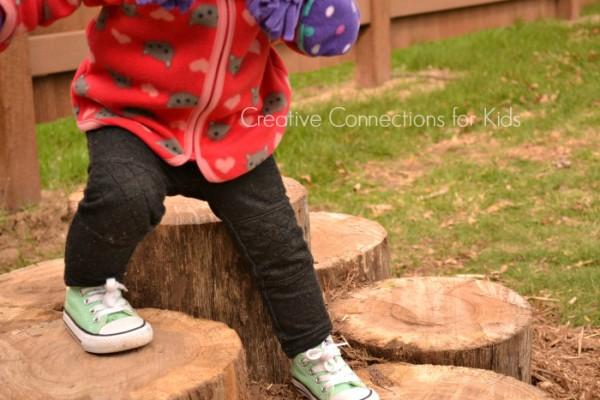 Log Walk - learning balance and motor skills