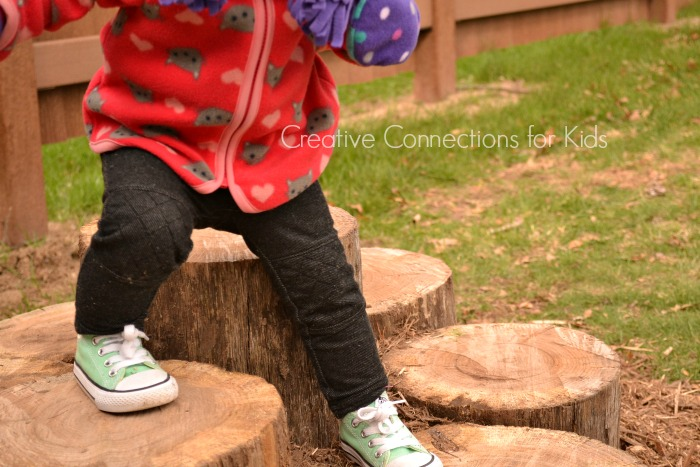 Log Walk - learning balance and motor skills