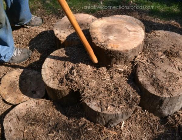 Making a log walk