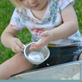 Playing with Rice- Simple Play at Creative Connections for Kids